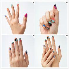 Geometric Nails by Madeline Poole