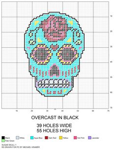 Sugar Skull plastic canvas pattern