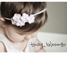 Crochet baby girl headband