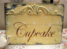 diy fashion, cupcakes, diy collect, cupcake signs, cupcak sign