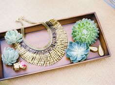 Succulents through your display  @Matty Chuah Bride's Cafe @Stella Menagia and Dot style, accessori, the bride, necklaces, stella dot
