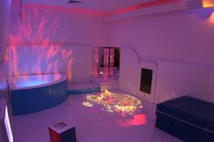 A sensory room for children with disabilities.