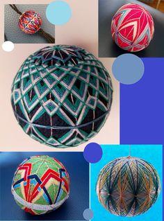 Temari balls, very decorative
