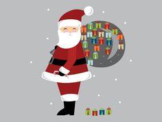 Santa Countdown Calender Wall Decal