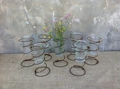 Rustic Home Decor - Industrial Decor - Rustic Wedding - Vase - Shabby Chic Decor - Candle Holder -  CHIC