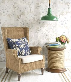 lovely chair and side table
