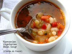 Romanian Vegetarian White Bean Soup... Ciorba de Fasole.
