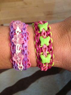Rainbow Loom triple with beads