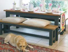 How to Make an Indoor-Outdoor Table  Create a rock-solid table and benches for dining inside or out.