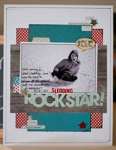 Sledding Rockstar - Scrapbook.com