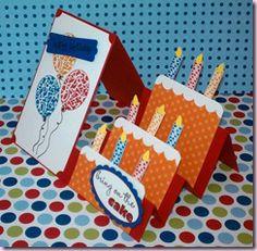 layered cakes, step card, paper roses, easel cards, happy birthdays, layer cakes, kid birthday cakes, kid birthdays, cake step