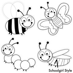 color my classroom bugs by Schoolgirl Style bug insects bee grasshopper ant ladybug butterfly caterpillar dragonfly polka dots classroom theme decor decorations school ~classroom decor by Schoolgirl Style www.schoolgirlstyle.com