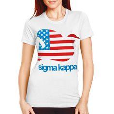 "Sorority Rush / Recruitment Shirts ""dove flag"" Design.  Available for all organizations!  $8.90 ea.  #sorority #rush #recruitment #Greek"