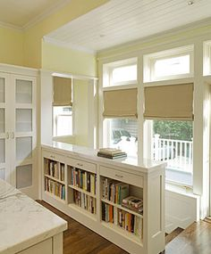 A bookcase for a railing. Perfect solution to get rid of the peg railing in our living room.