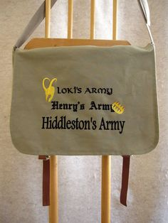 The first in a series of embroidered laptop bags from Storied Threads. The first pays tribute to actor Tom Hiddleston. $58.00