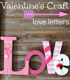 How to make covered L-O-V-E Letters