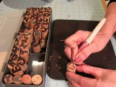 Make your own stamps from wine corks