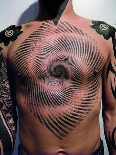 Illusion, Chest, Spiral, Dots