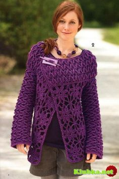 Interesting cardigan, with chart and pattern