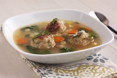 Spring Minestrone with Chicken Meatballs