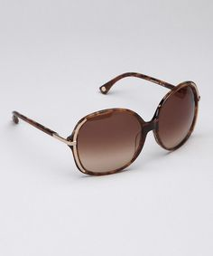 Take a look at this Michael Kors Brown Horn Laguna Sunglasses by Michael Kors on #zulily today!