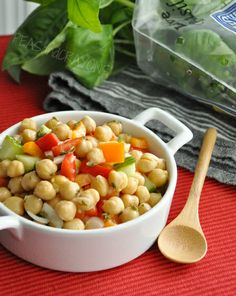 marinated chick pea salad