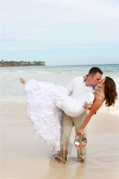 Brad and Andrea on their  #destinationwedding www.allabouttravel.org www.facebook.com/AllAboutTravelInc 605-339-8911 #travel #vacation #explore #wedding #honeymoon #beach #romance #luxury