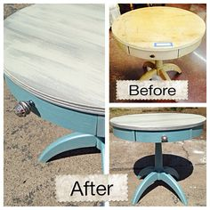 Side Table Redo On Pinterest