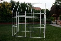 PVC Playhouse! How cool! But who will make the cover?!PVC PIPE PROJECTS