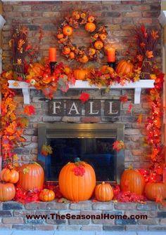 The Seasonal Home - Gorgeous Fall Mantel