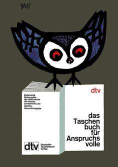 Celestino Piatti owl poster