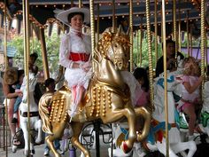 Mary Poppins on King Arthur's Carousel