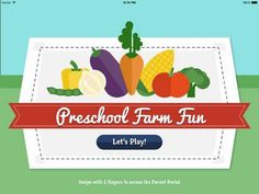 Preschool Farm Fun - Teach your child colors, counting, shapes and puzzles using yummy Vegetables! - a set of activities for preschoolers (counting, colors, matching, shape sorting) with the farm/vegetable theme. Appysmarts score: 78/100