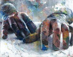 """Saatchi Online Artist: David Agenjo; Acrylic, 2011, Painting """"Hands-on XIII"""""""