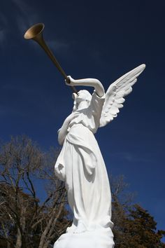 The statue in front of the St. Catherin Catholic Church in Catherine, Kansas. Photo by Neil Croxton
