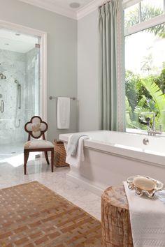 Florida Beach Home Master Bath