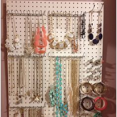 jewelry organization #hanging #necklace #storage