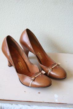 1940's leather heels