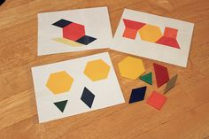 Free Printable Pattern Block Activities - for younger AND older elementary age
