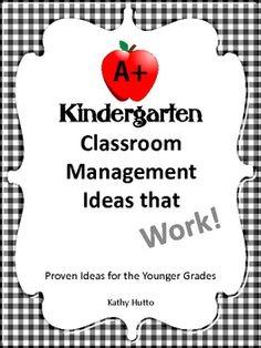 """Classroom Management for Kindergarten on """"Teachers pay Teachers"""" Classroom sharing site."""