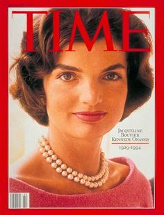 "Jacqueline ""Jackie"" Kennedy Onassis magazine covers, first ladies, kennedi onassi, pearls, jacquelin kennedi, pearl necklaces, style icons, vintage magazines, jacki kennedi"