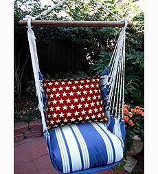 Stars and Stripes Hammock Swing Chair with Tote