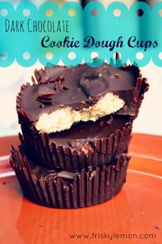 Dark Chocolate Cookie Dough Cups (grain-free, sugar-free goodness)