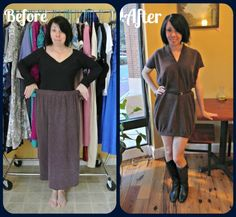 An Easy Skirt to Dress ReFashion!
