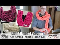 Arm Knitting, Ultra Bulky Scarves Tutorial