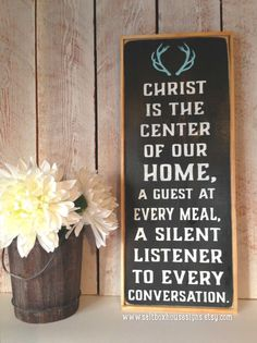 Christ is the Center of Our Home Sign Made to by SaltboxHouseSigns, $35.00