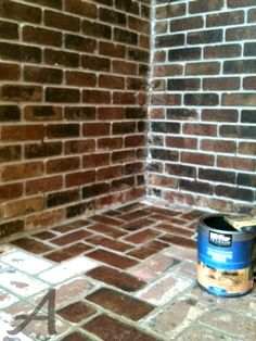 Staining old brick