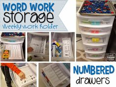 Word Work Storage and Yearly Plan