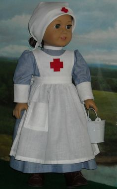 Vintage Nurse Outfit fits 18 Inch Dolls by SugarloafDollClothes
