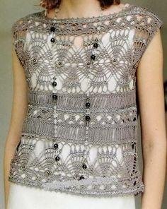 Crochet Vest - Gorgeous Sweater / Vest Free Pattern, Crochet Vest, Vest Pattern, Crochet Top, Crochet Patterns